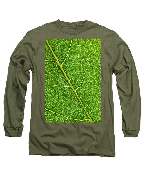 Leaf Detail Long Sleeve T-Shirt by Carsten Reisinger