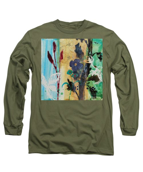 Leaf Flower Berry Long Sleeve T-Shirt by Robin Maria Pedrero