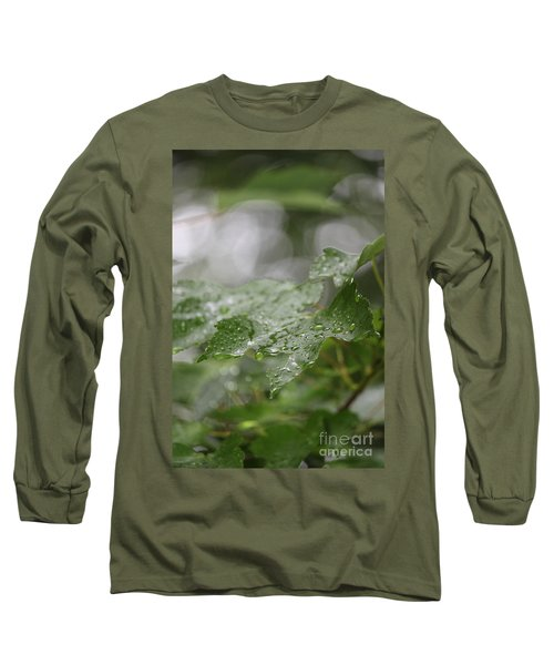 Leafy Raindrops Long Sleeve T-Shirt