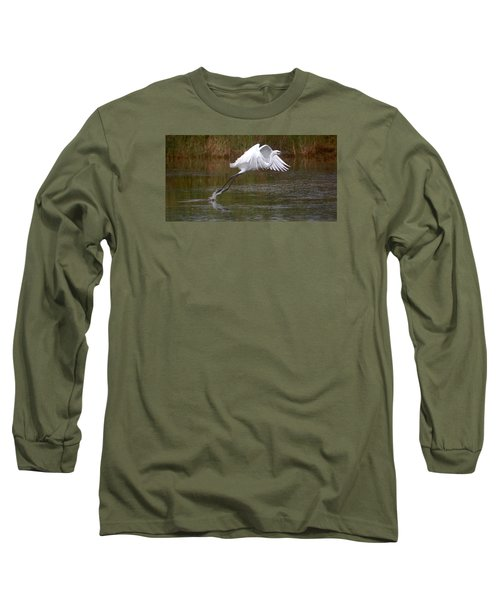 Leaping Egret Long Sleeve T-Shirt
