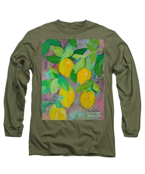 Lemons On Lemon Tree Long Sleeve T-Shirt