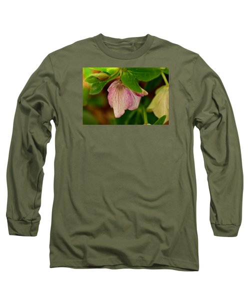 Long Sleeve T-Shirt featuring the photograph Lenton Rose Of Winter by Larry Bishop
