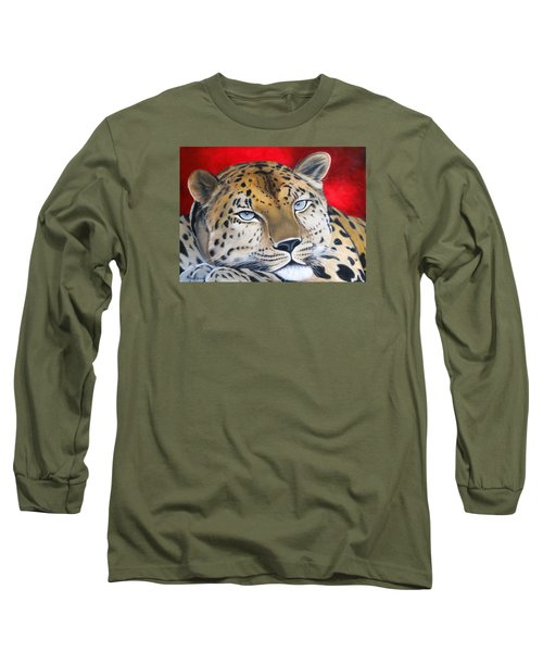 Leopardo Long Sleeve T-Shirt by Angel Ortiz