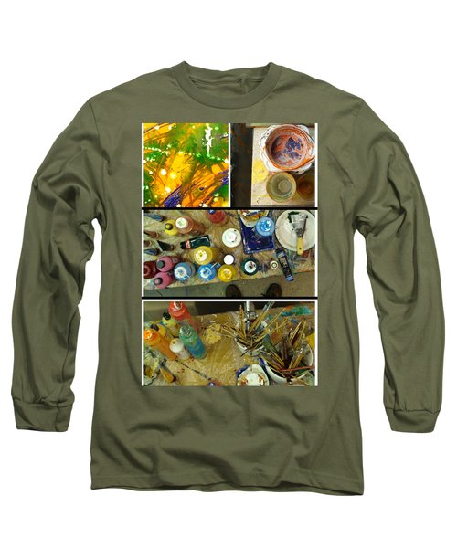 Long Sleeve T-Shirt featuring the photograph Les Couleurs by Sir Josef - Social Critic - ART