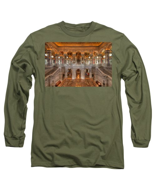 Library Of Congress Long Sleeve T-Shirt by Steve Gadomski