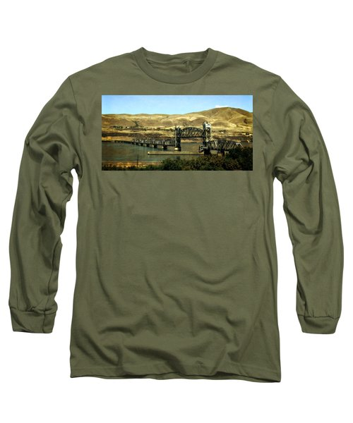 Lift Bridge Over The Columbia River Long Sleeve T-Shirt