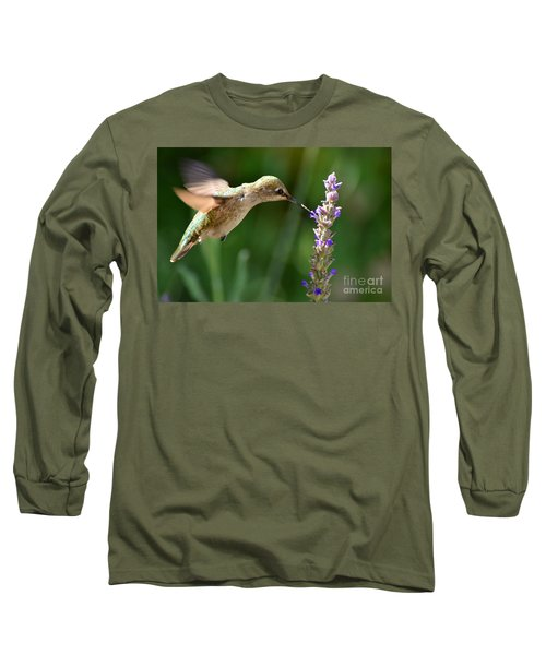 Light Filters Behind The Hummer Long Sleeve T-Shirt