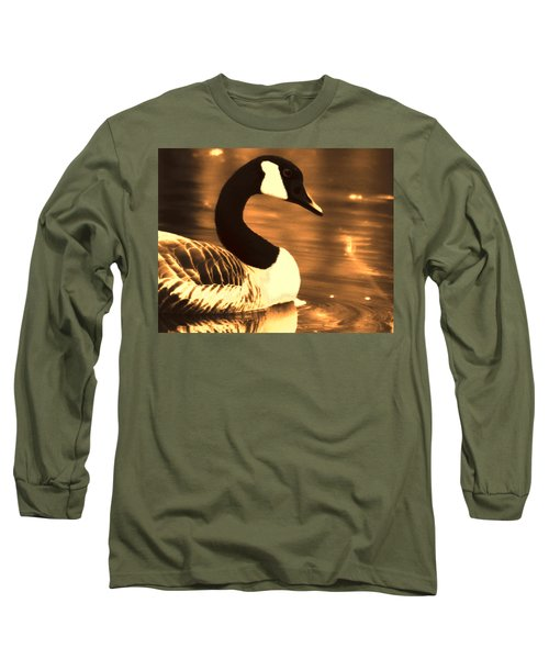Lila Goose The Pond Queen Sepia Long Sleeve T-Shirt by Lesa Fine