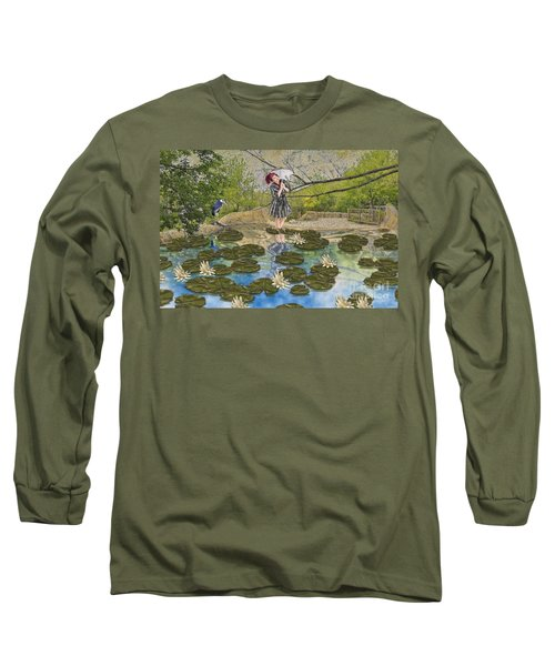 Lilly Pad Lane Long Sleeve T-Shirt by Liane Wright