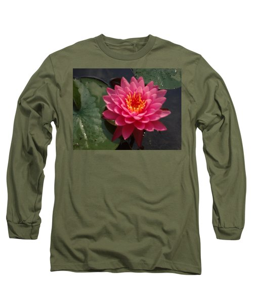 Long Sleeve T-Shirt featuring the photograph Lily Flower In Bloom by Michael Porchik