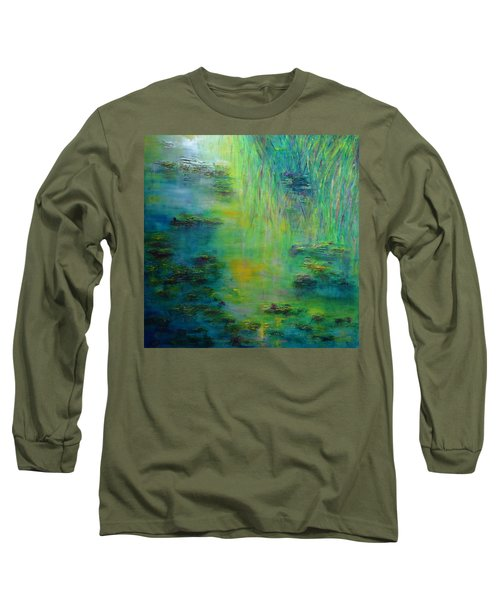 Lily Pond Tribute To Monet Long Sleeve T-Shirt