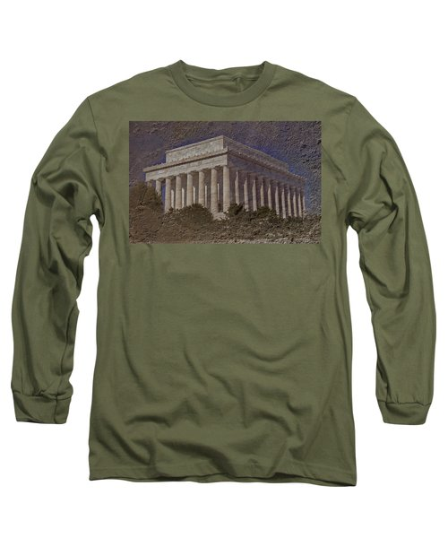Lincoln Memorial Long Sleeve T-Shirt by Skip Willits