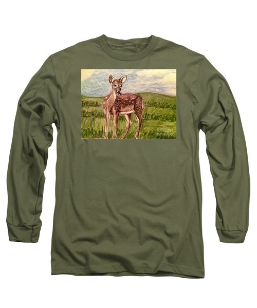Listening To The Creator's Voice Long Sleeve T-Shirt by Kimberlee Baxter