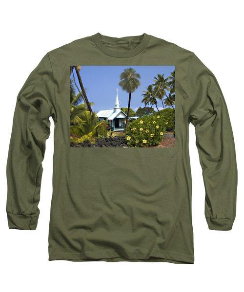 Little Blue Church Kona Long Sleeve T-Shirt