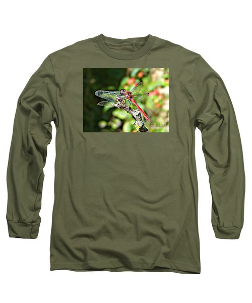 Little Dragonfly Long Sleeve T-Shirt by Morag Bates