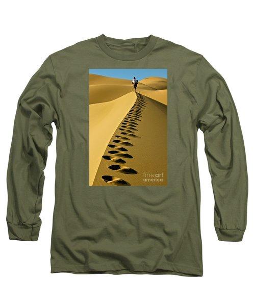 Live On The Edge Long Sleeve T-Shirt by Michael Cinnamond