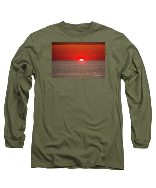 Lobster Pots Dance In The Sea  At Sunrise Long Sleeve T-Shirt by Eunice Miller