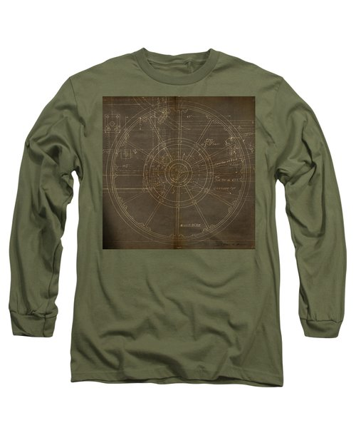 Long Sleeve T-Shirt featuring the painting Locomotive Wheel by James Christopher Hill