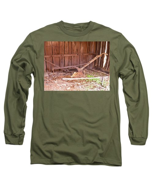 Long Sleeve T-Shirt featuring the photograph Lone Plow by Nick Kirby