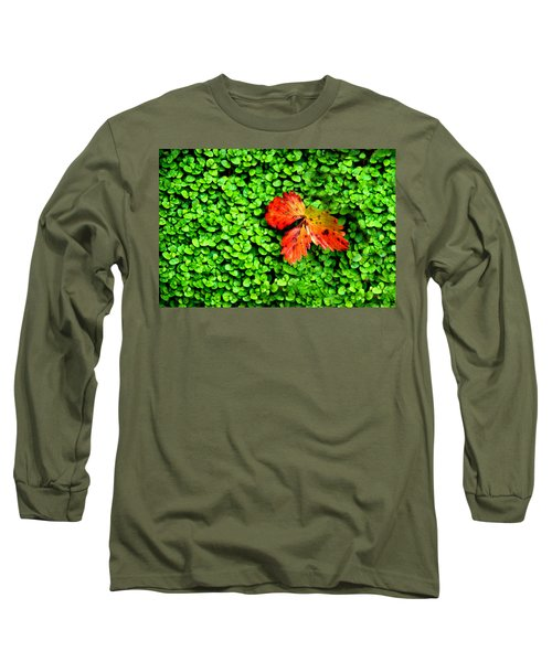 Long Sleeve T-Shirt featuring the photograph Lonely Leaf by Charlie and Norma Brock