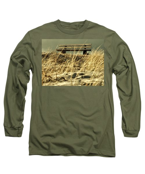 Lonely Bench Long Sleeve T-Shirt by Mike Santis
