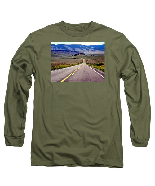 Lonely Road Long Sleeve T-Shirt by Antonia Citrino