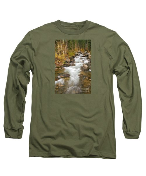 Looking Upstream Long Sleeve T-Shirt by Alice Cahill