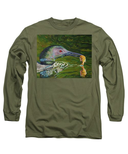 Loon Lunch Long Sleeve T-Shirt by Phil Chadwick