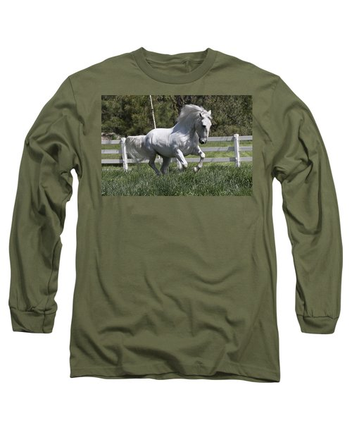 Loose In The Paddock Long Sleeve T-Shirt by Wes and Dotty Weber