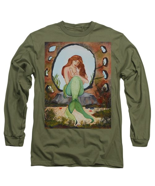 Loralie And Her Daughter Long Sleeve T-Shirt by Virginia Coyle
