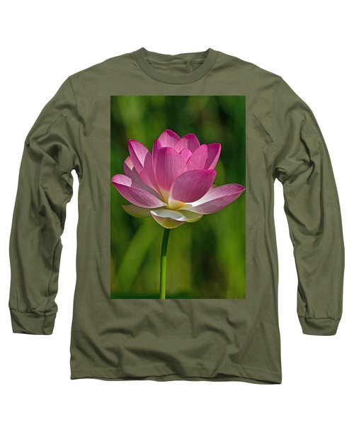 Long Sleeve T-Shirt featuring the photograph Lotus Bloom by Jerry Gammon