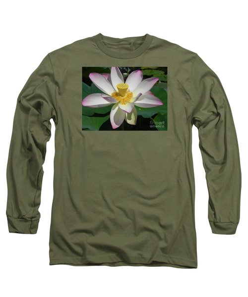 Long Sleeve T-Shirt featuring the photograph Lotus Flower by Chrisann Ellis