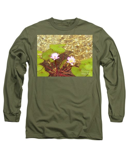 Long Sleeve T-Shirt featuring the photograph Lotus by Mini Arora