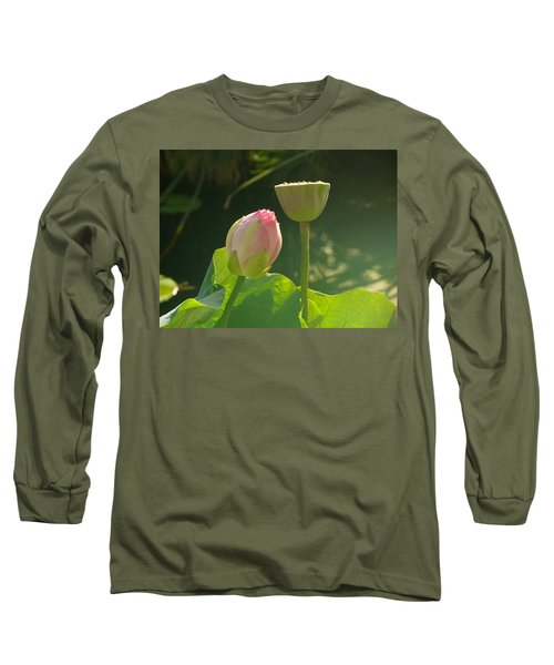 Long Sleeve T-Shirt featuring the photograph Lotus Soft by Evelyn Tambour