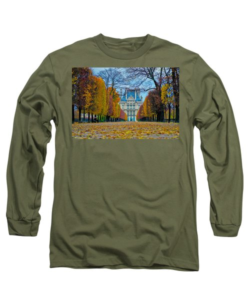 Louvre In Fall Long Sleeve T-Shirt