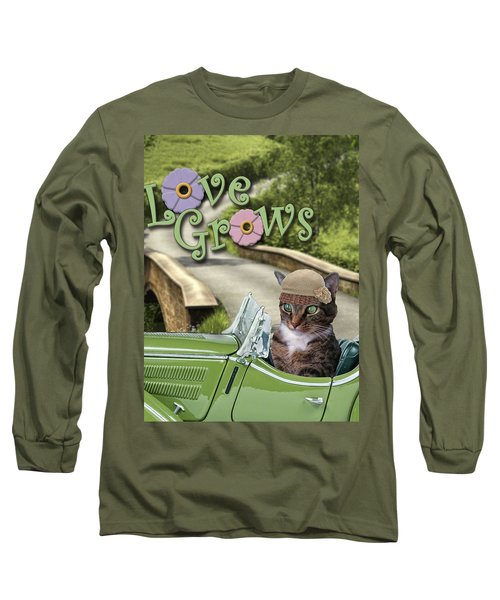 Long Sleeve T-Shirt featuring the digital art Love Grows by Kathy Tarochione
