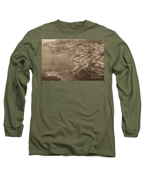 Aerial Of Lovers Point And Pacific Grove California July 10 1906 Long Sleeve T-Shirt