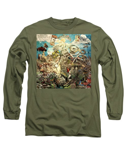 Lucid Dreaming Long Sleeve T-Shirt by Ally  White