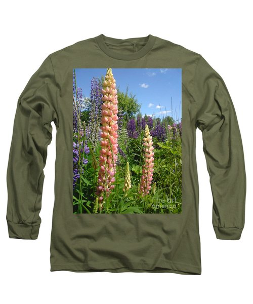 Long Sleeve T-Shirt featuring the photograph Lupin Summer by Martin Howard
