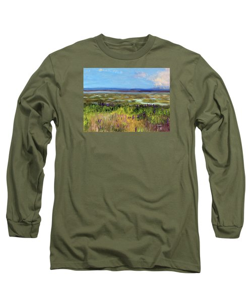 Lupine Of Fort Hill Long Sleeve T-Shirt by Michael Helfen