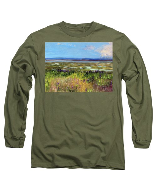 Lupine Of Fort Hill Long Sleeve T-Shirt