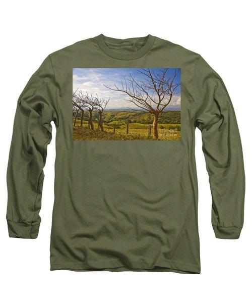 Lush Land Leafless Trees 2 Long Sleeve T-Shirt