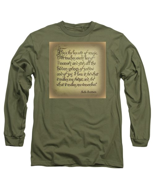Long Sleeve T-Shirt featuring the photograph Luxury Of Music by Jodie Marie Anne Richardson Traugott          aka jm-ART