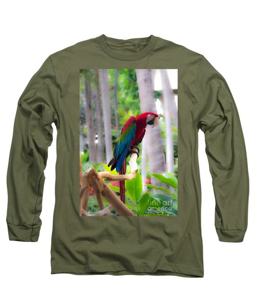 Long Sleeve T-Shirt featuring the photograph Macaw by Angela DeFrias