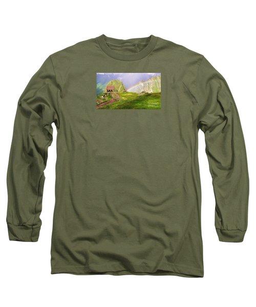 Machu Picchu Rainbow Long Sleeve T-Shirt