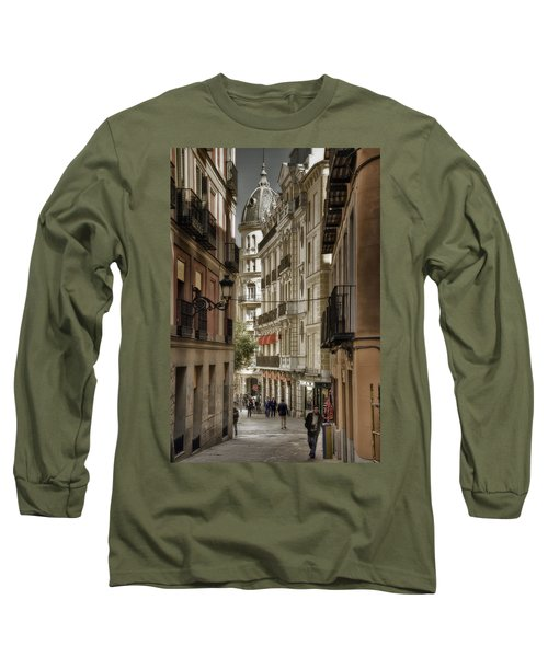 Madrid Streets Long Sleeve T-Shirt by Joan Carroll