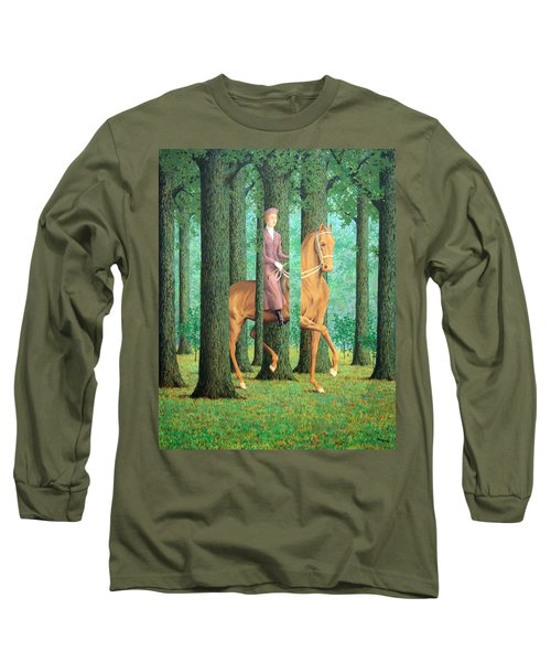 Magritte's The Blank Signature Long Sleeve T-Shirt by Cora Wandel