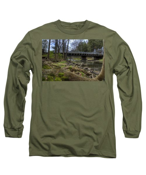 Majestic Bridge In The Woods Long Sleeve T-Shirt