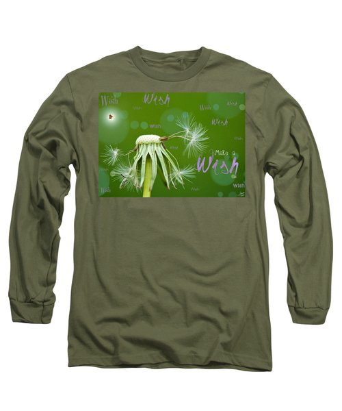 Make A Wish Card Long Sleeve T-Shirt