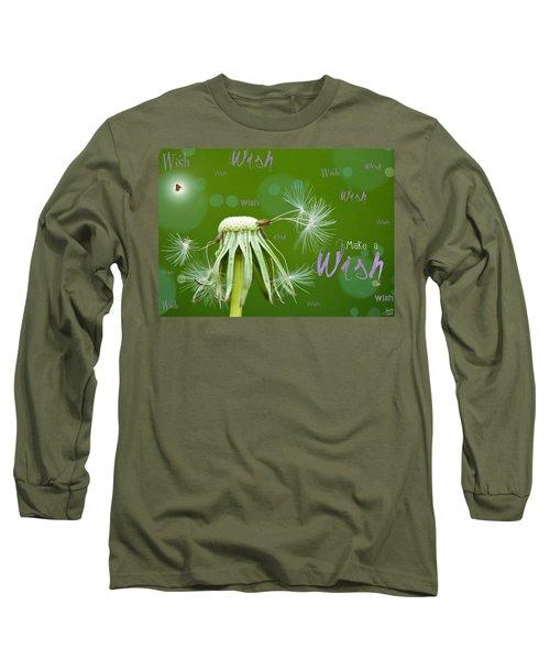 Make A Wish Card Long Sleeve T-Shirt